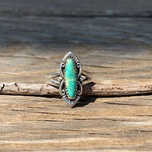 Vintage bell trading post turquoise ring